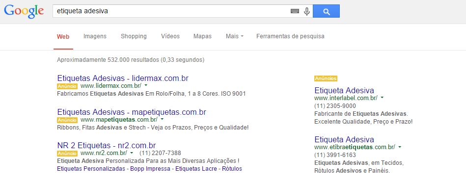 Resultados Adwords