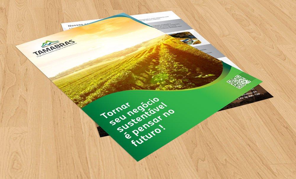 flyer de engenharia ambiental tamabras