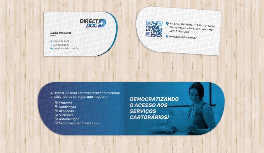 modelos de cartão de visitas com dobra e corte especial design gráfico