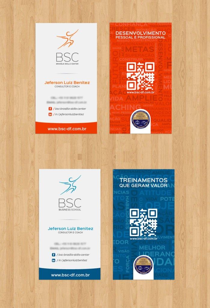 Exemplo dos cartões de visitas para empresa de coaching