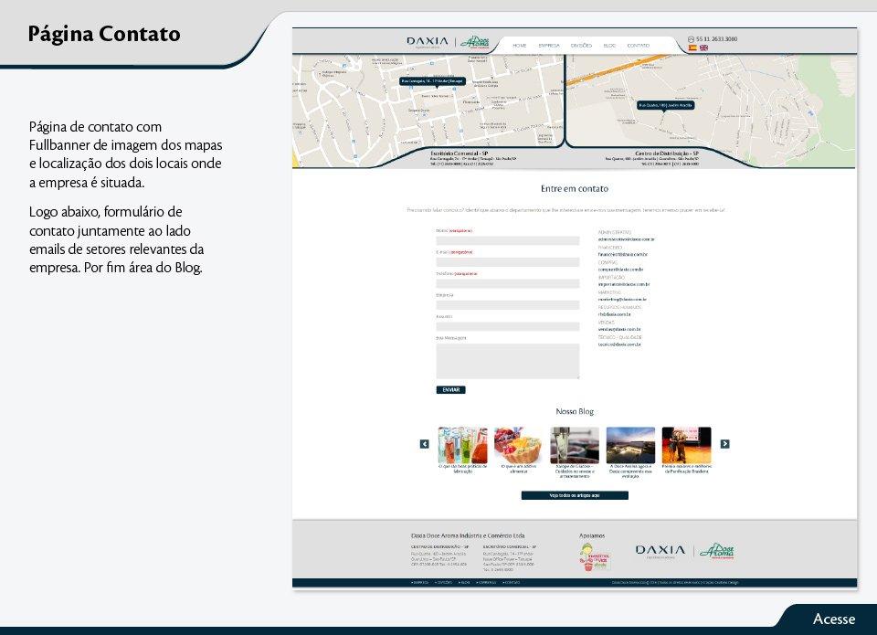 Página de contato com Fullbanner de imagem dos mapas e localização dos dois locais onde a empresa é situada.