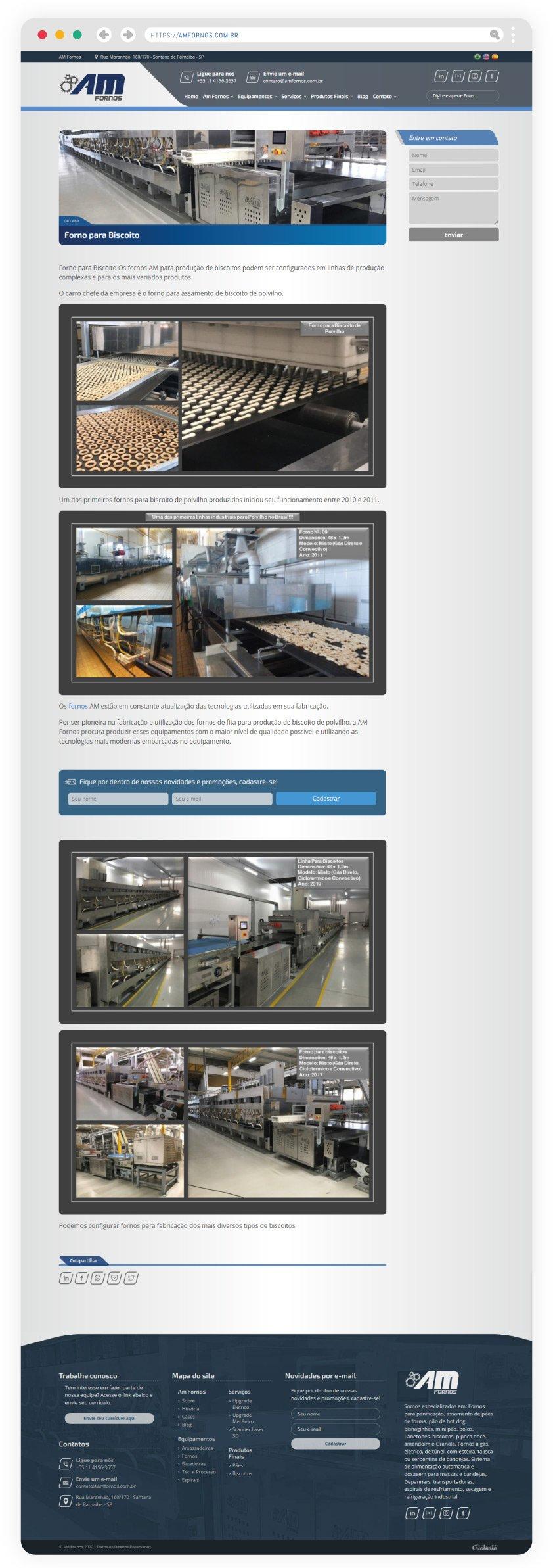 Site criado com páginas personalizadas que apresentam suporte a citações, galerias, vídeos, tabelas e mais.